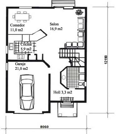 Casa de madera chalet unifamiliar casas prefabricadas for Modelos de planos de casas