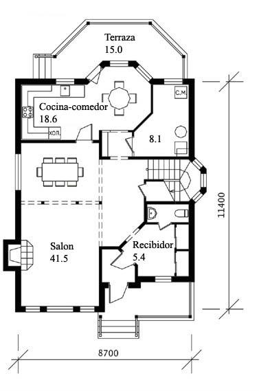 Planos de casas de madera for Planos de chalets