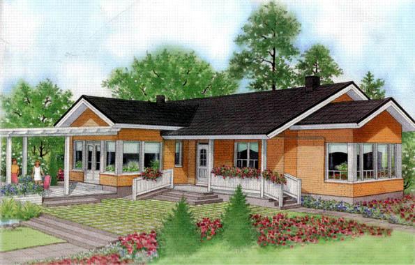 Casa de madera chalet unifamiliar casas prefabricadas for Modelo de casa tipo chalet