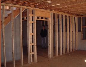 Interiores de casas americanas casas de madera casas - Estructura casa de madera ...